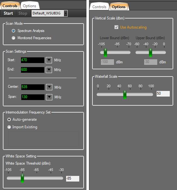 Clear Waves RF Spectrum Analyzer Software