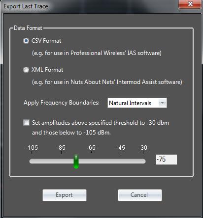 Touchstone RF Spectrum Analyzer Software